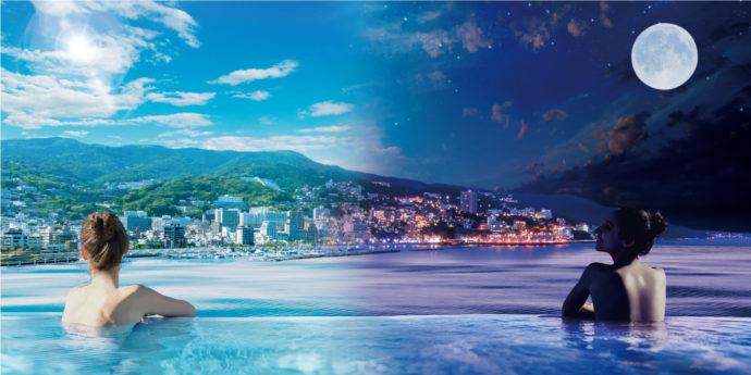 海に包まれている様な温泉!熱海の人気スポット「Fuua」もご優待!