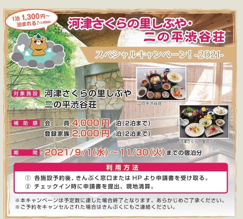 7月号掲載 河津さくらの里&二の平渋谷荘SPキャンペーン